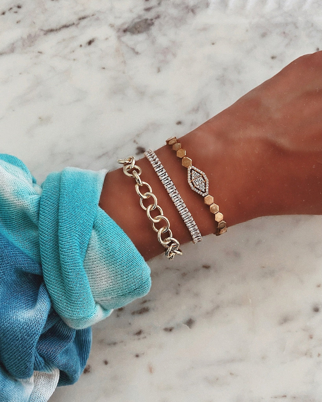 Lovely Links Gold Bracelet