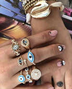 Evil Eye Eternity Ring JEWELRY The Sis Kiss
