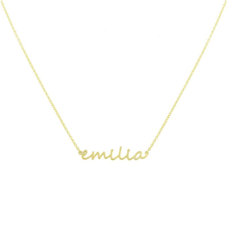Dainty Custom Name Necklace JEWELRY The Sis Kiss
