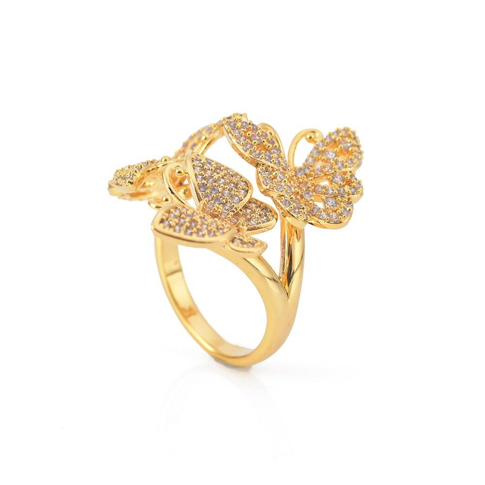 Triple Adjustable Butterfly Ring JEWELRY The Sis Kiss