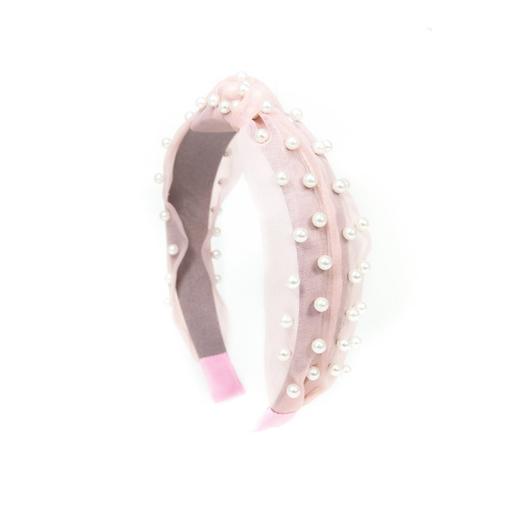 Mesh Pearl Headbands ACCESSORY The Sis Kiss