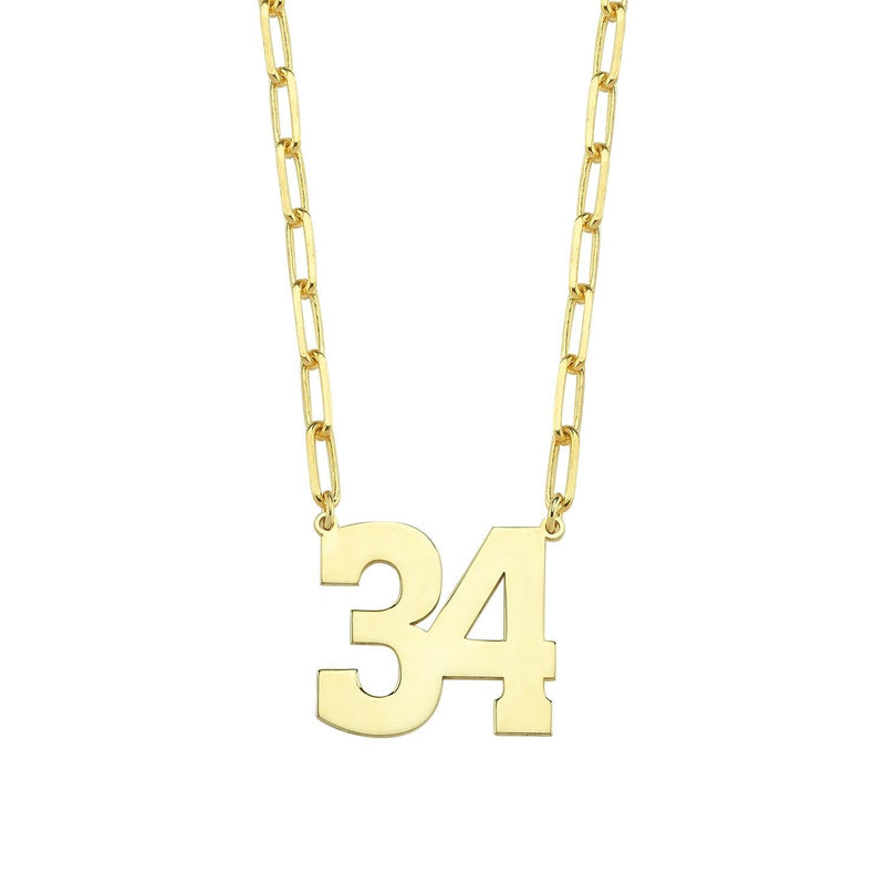Custom Number Necklace JEWELRY The Sis Kiss