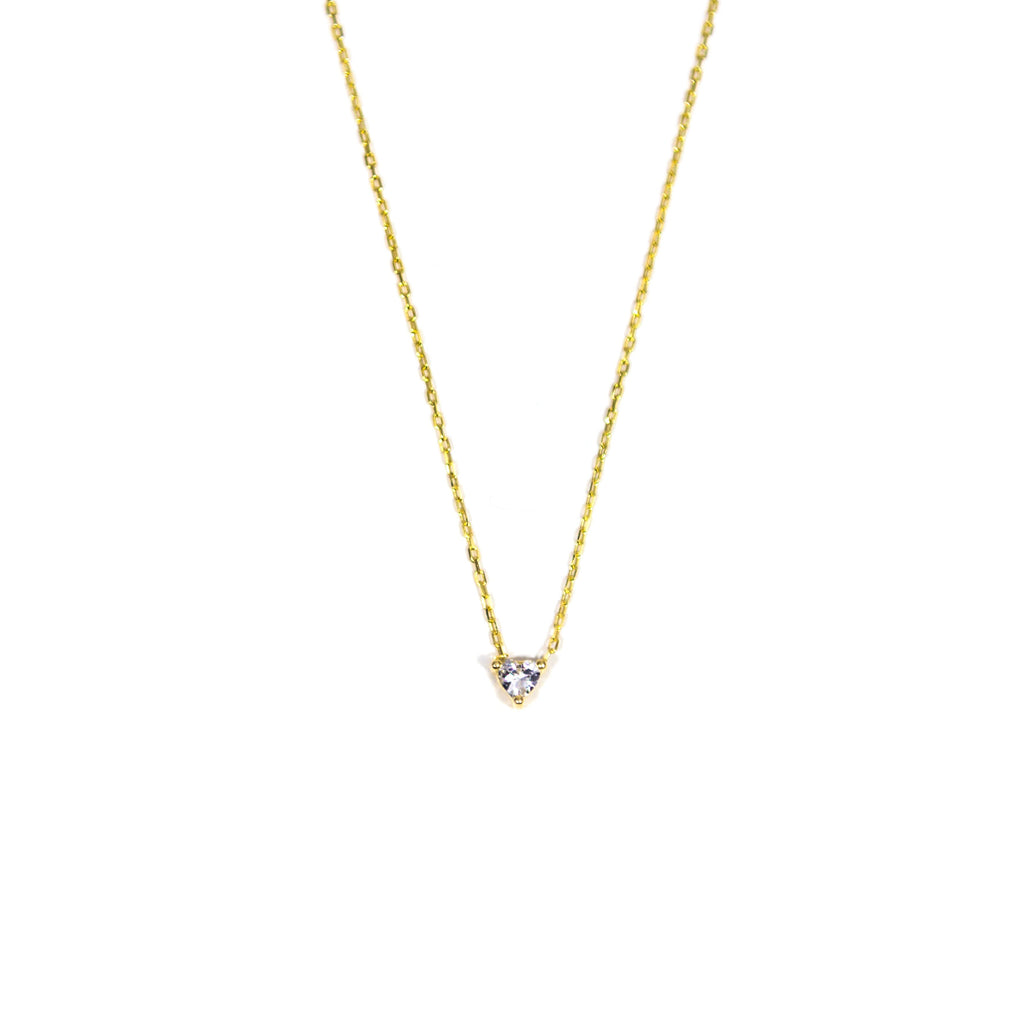 Crystal Heart Dainty Necklace