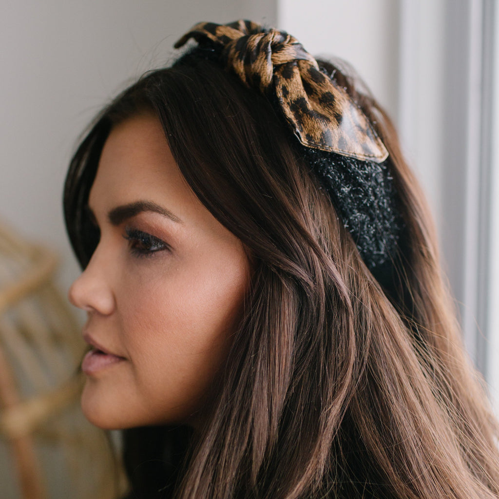 Leopard Faux Fur Headband ACCESSORY The Sis Kiss