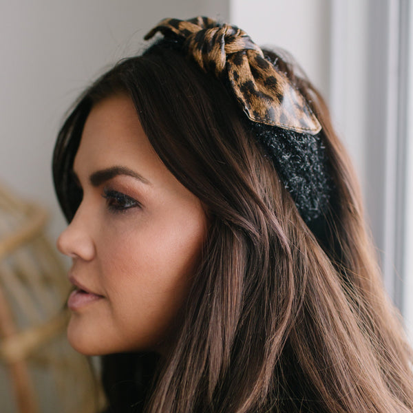 Leopard Faux Fur Headband
