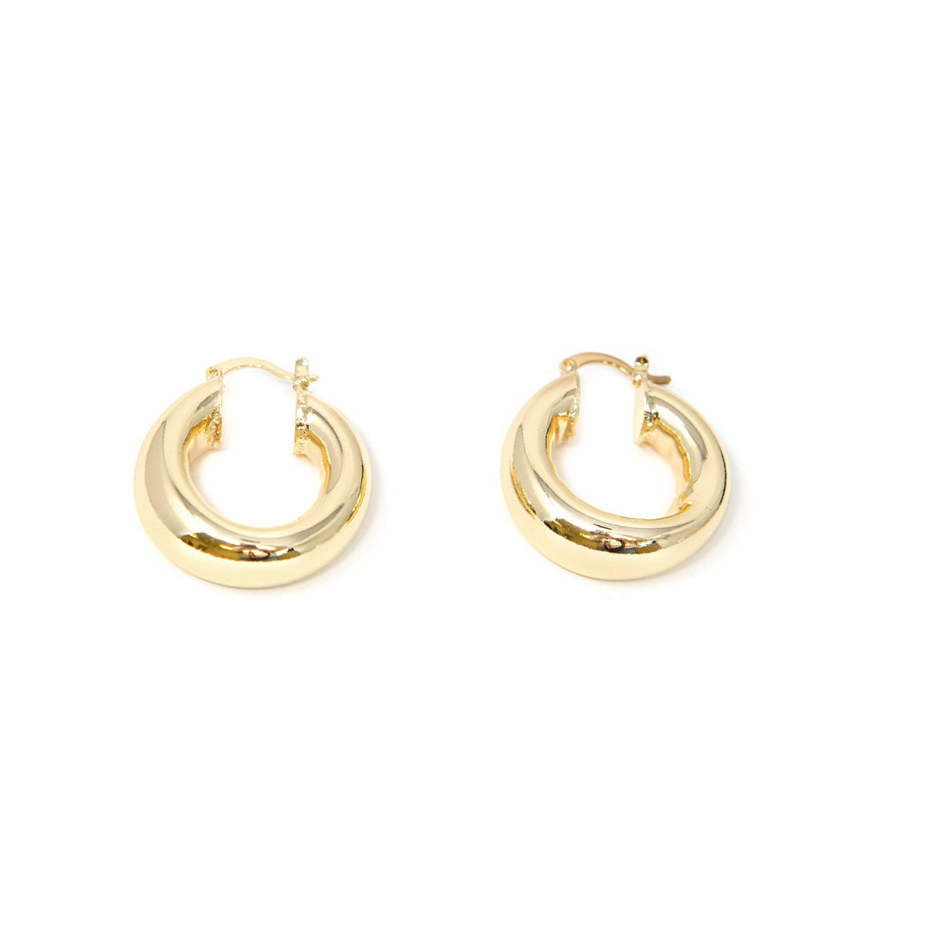 Bold in Gold Hoop Earrings. Full hoop, for pierced ears.