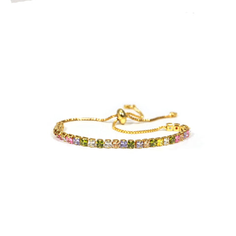 Multi Color Stone Tennis Bracelet