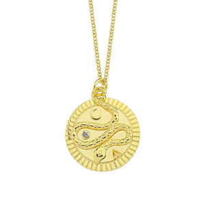 Snake Gold Coin Necklace