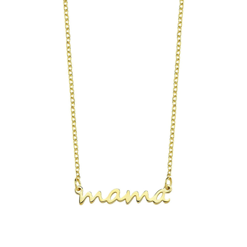 Mama Dainty Necklace JEWELRY The Sis Kiss Yellow Gold