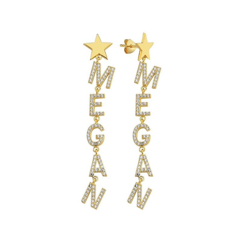 It's All in a Name™ Personalized Earrings JEWELRY The Sis Kiss Gold with Crystals
