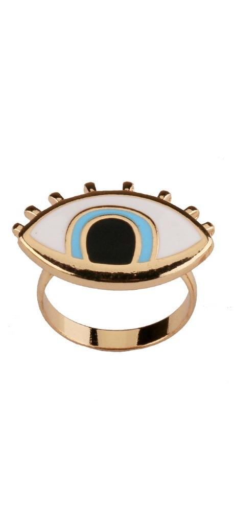 Evil Eye Resin Ring