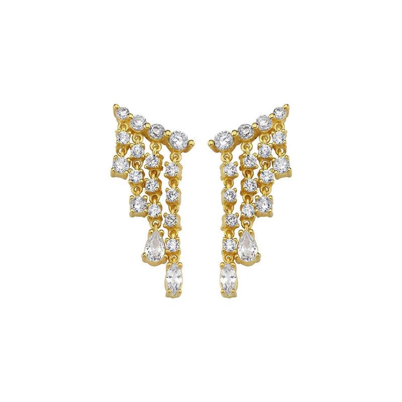 Crystal Waterfall Earring Studs JEWELRY The Sis Kiss
