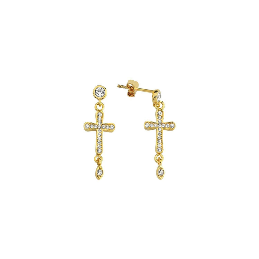 Dangle Cross Earrings The Sis Kiss