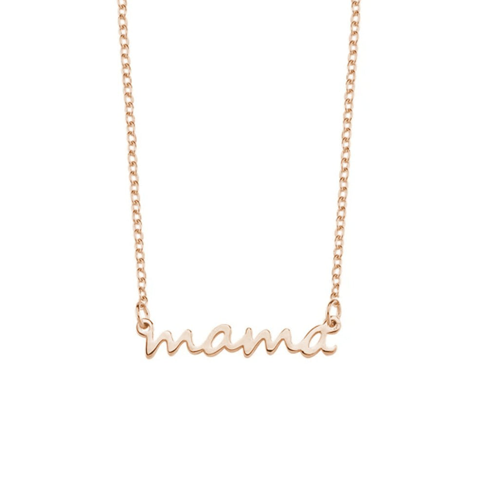 Mama Dainty Necklace JEWELRY The Sis Kiss Rose Gold
