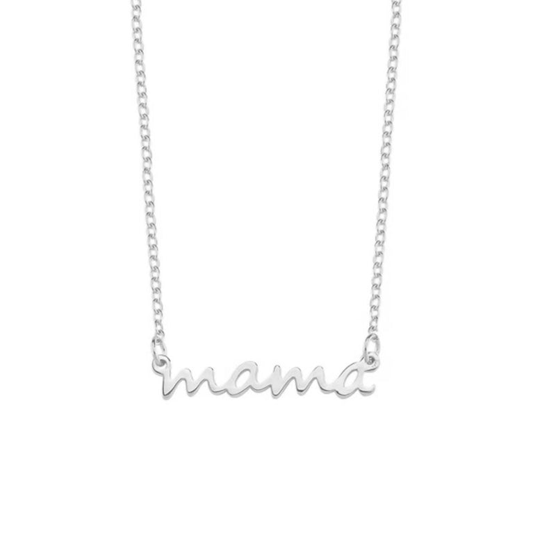 Mama Dainty Necklace JEWELRY The Sis Kiss Silver