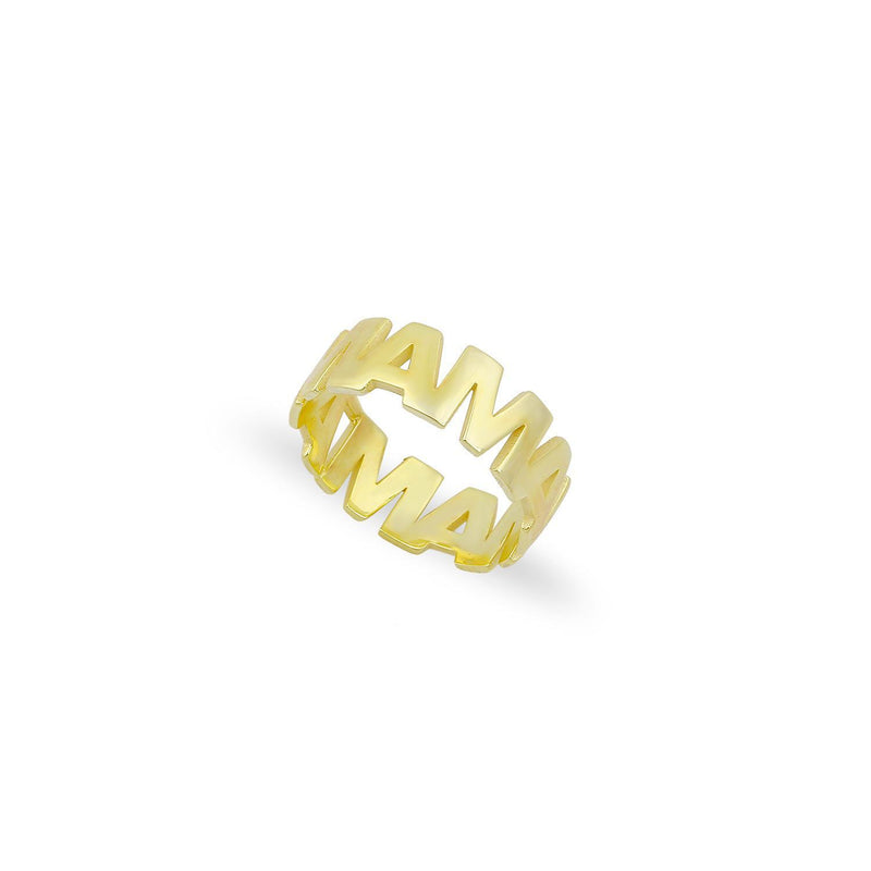 Mama Adjustable Gold Band Ring JEWELRY The Sis Kiss