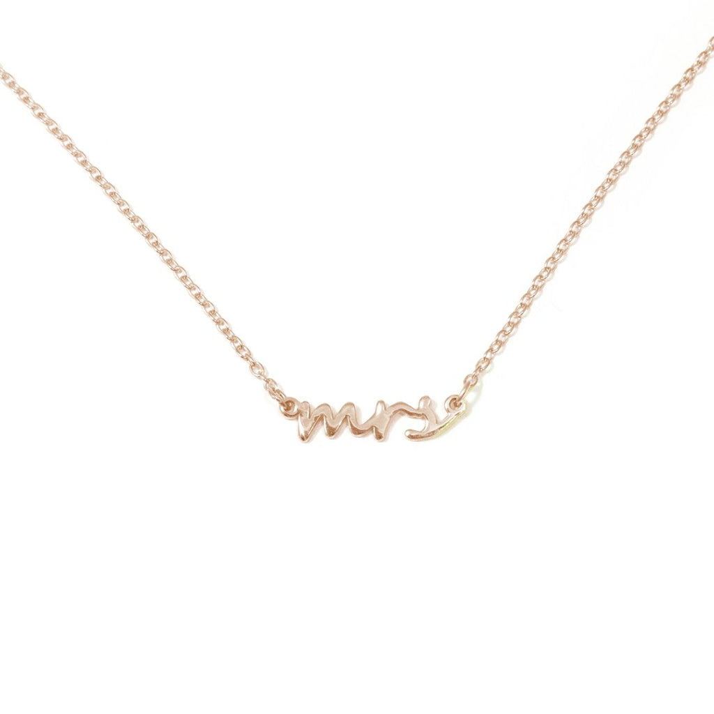 Mrs. Dainty Necklace JEWELRY The Sis Kiss Rose gold