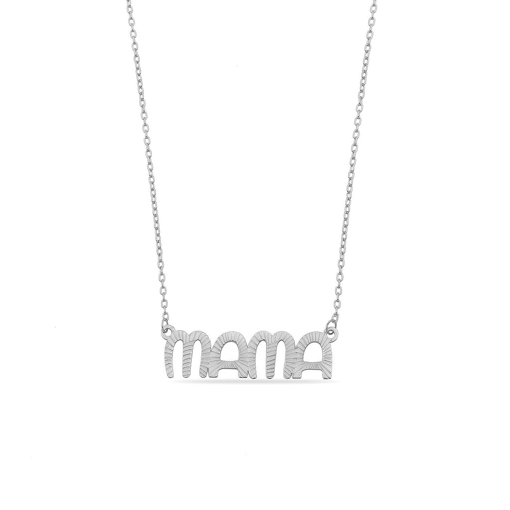 The Sis Kiss Muse Modern Mama Necklace JEWELRY The Sis Kiss Silver