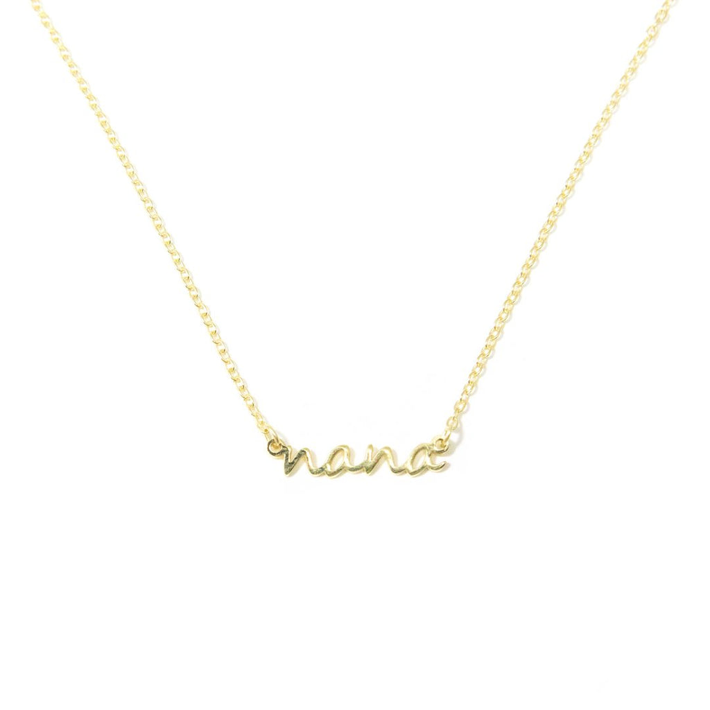 Nana / Gigi Dainty Necklace JEWELRY The Sis Kiss Yellow Gold Nana