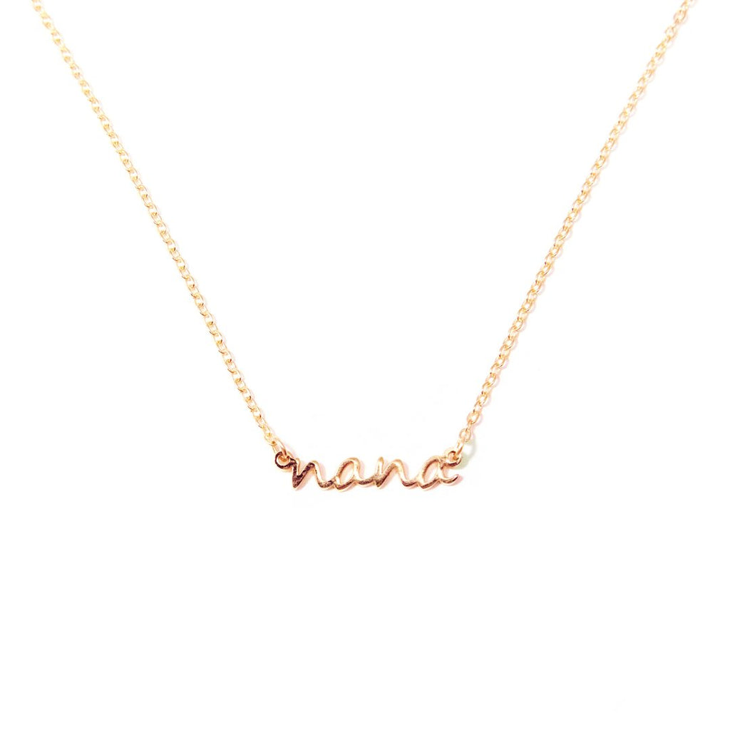 Nana / Gigi Dainty Necklace JEWELRY The Sis Kiss Rose Gold Nana
