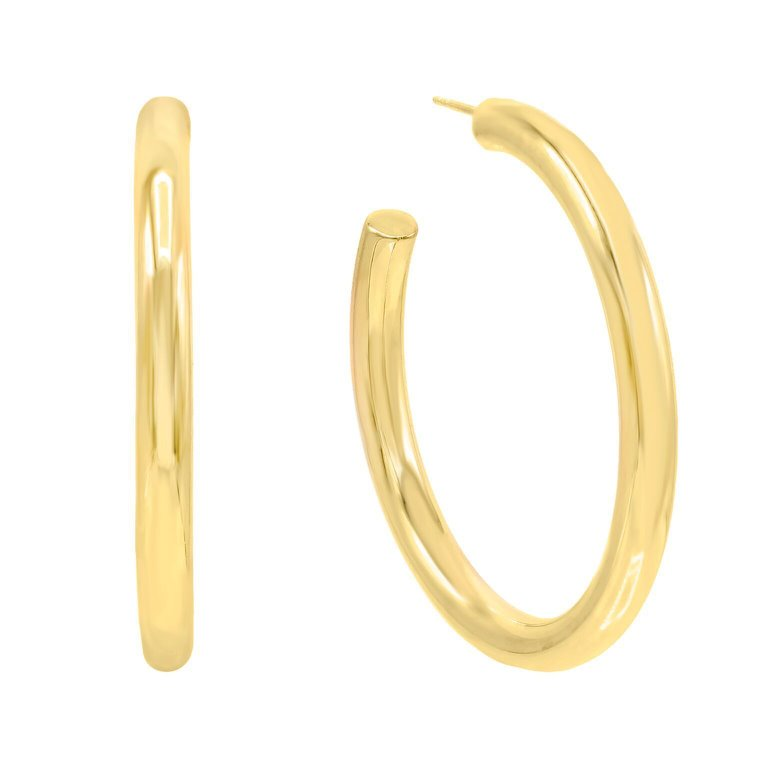 Baller Gold Hoops JEWELRY The Sis Kiss