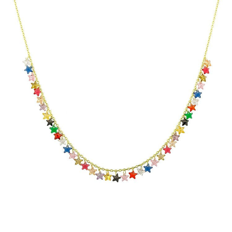 Sparkling Star Necklace in Rainbow necklace The Sis Kiss