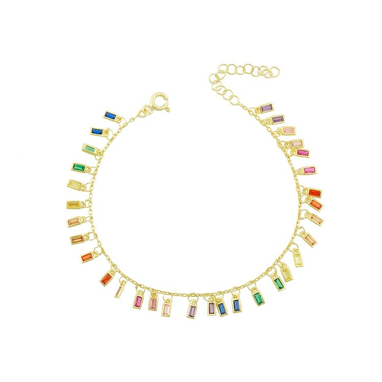 Rainbow Glam Anklet JEWELRY The Sis Kiss