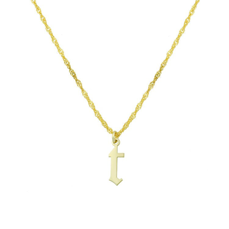 Old English Initial Necklace - Lowercase necklace The Sis Kiss