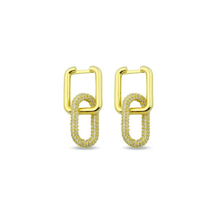 Square and Oval Art Deco Earring JEWELRY The Sis Kiss