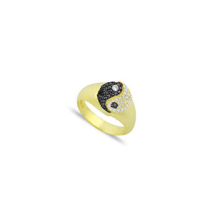 Adjustable Crystal Yin Yang Ring JEWELRY The Sis Kiss