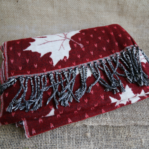 Scarf with Maple Leaf