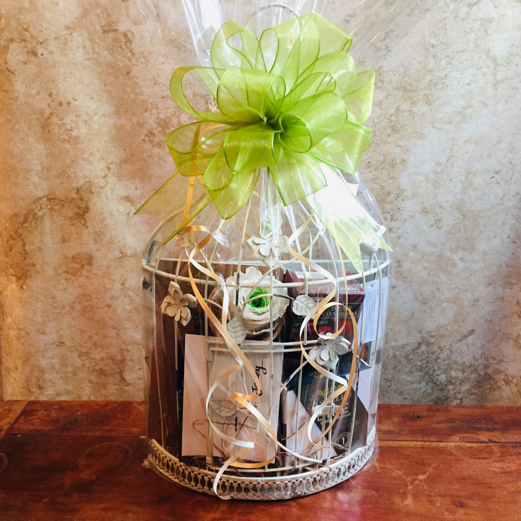 Rustic Mirror Gift Basket from Basket Revolution