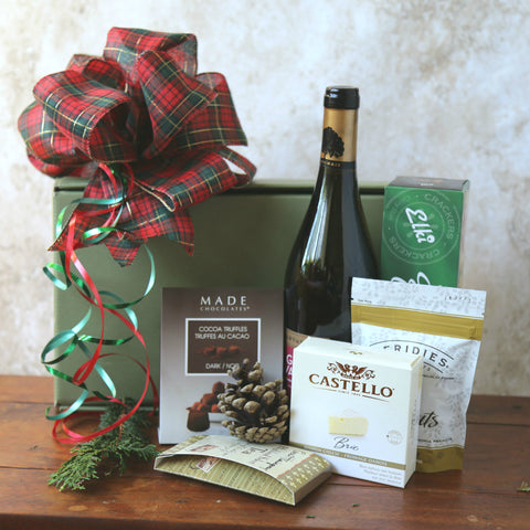 Wine and Cheese - Gift Basket from Basket Revolution