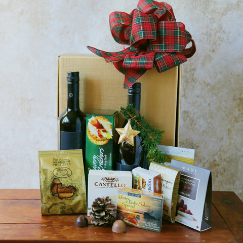 Two Wines  and 2 Cheeses - Gift Basket from Basket Revolution