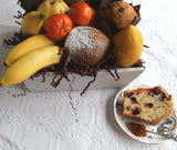 Fresh Fruit and Baked Muffins - Gift Basket Vancouver- Detail - Basket Revolution Gifts