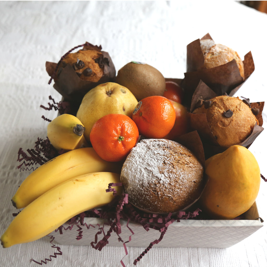 Fresh Fruit and Baked Muffins - Gift Basket Vancouver- Basket Revolution Gifts