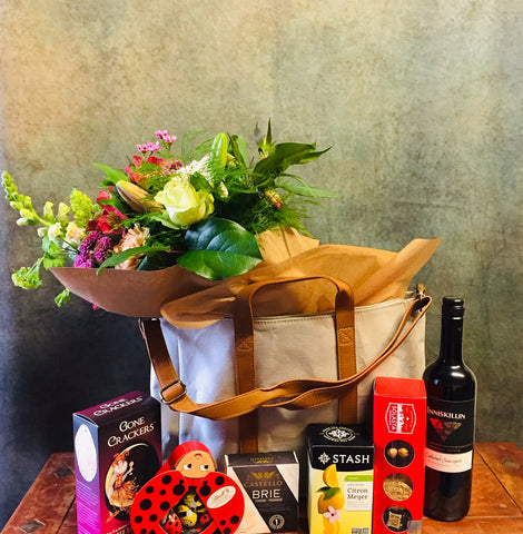 Spring Edition ~ Flower and Goodies Bag | Gift Basket Vancouver