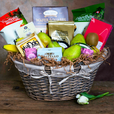 Basket Revolution | Fruit, Cheese and Crackers Gift basket