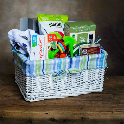 Basket Revolution Baby Boy Gift Basket