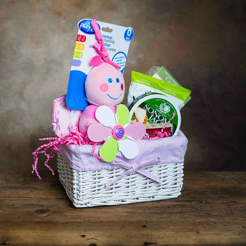 Basket Revolution Baby Girl Gift Basket