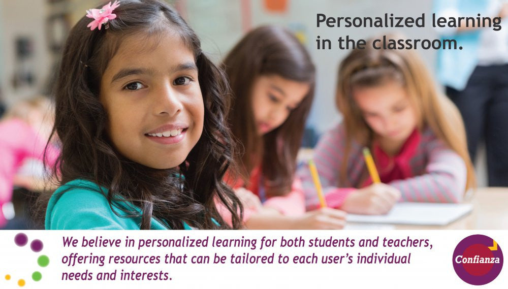 Personalized learning in the classroom. We believe in the value of personalized learning for both students and teachers, offering resources that can be tailored to each user's individual needs.