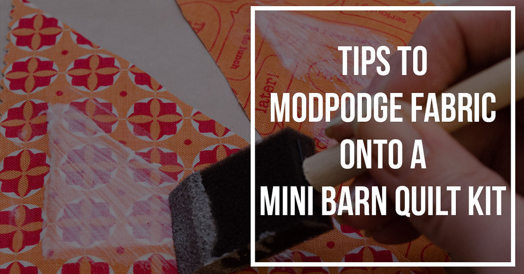 ModPodge your Mini Barn Quilt pieces