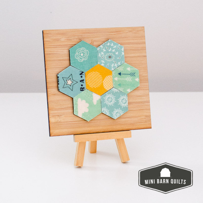 Hexi Flower Mini Barn Quilt Kit