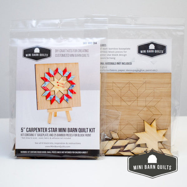 Carpenter Star Mini Barn Quilt Kit
