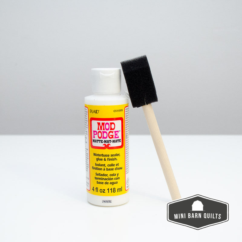 Mod Podge with Foam Brush (matte finish)