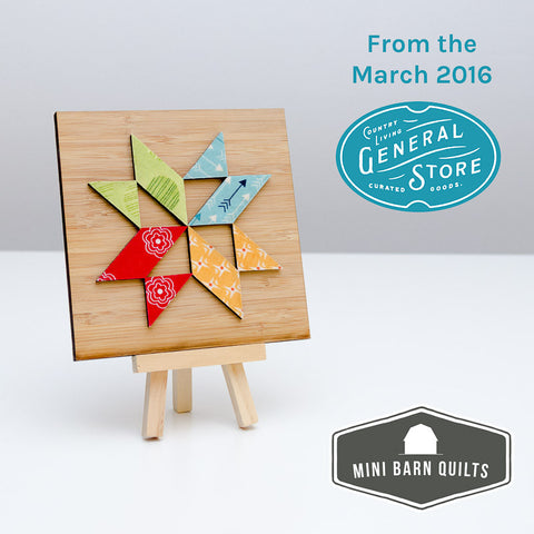 Vintage Star Mini Barn Quilt Kit
