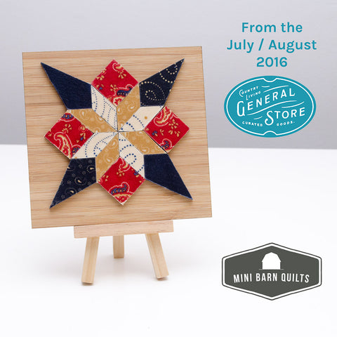 Summer Star Mini Barn Quilt Kit