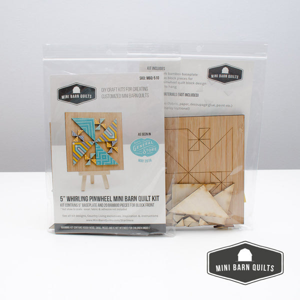 Whirling Pinwheel Mini Barn Quilt Kit