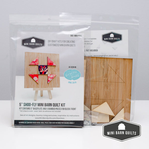Shoo-Fly Mini Barn Quilt Kit