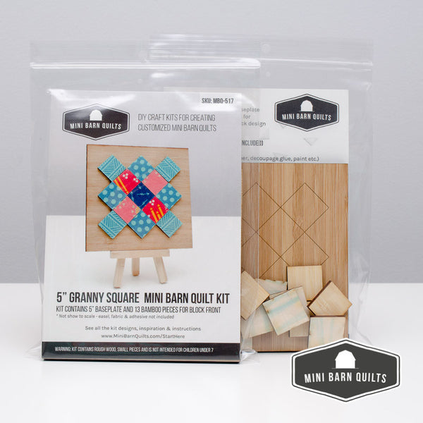 Granny Square Mini Barn Quilt Kit